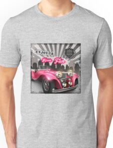 Retro car poster Unisex T-Shirt