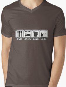 FISHING - EAT SLEEP FISH Mens V-Neck T-Shirt