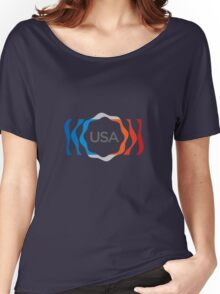 USA Abstract Women's Relaxed Fit T-Shirt