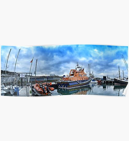 Newlyn lifeboat Poster