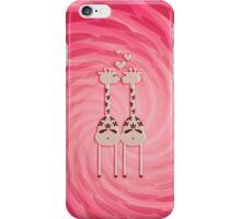 Pink Giraffe Lovers iPhone Case/Skin
