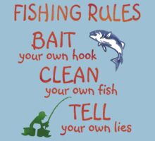 FISHING - RULES Kids Clothes