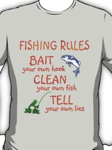 FISHING - RULES T-Shirt