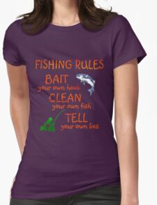 FISHING - RULES Womens Fitted T-Shirt