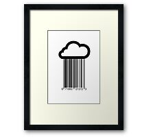 Barcode Cloud Framed Print