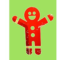 Ginger Bread Man Holiday Photographic Print