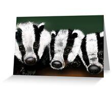Badger Badger Badger Greeting Card