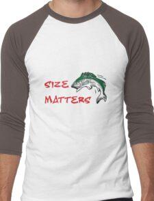 SIZE MATTERS FISHING T Men's Baseball ¾ T-Shirt