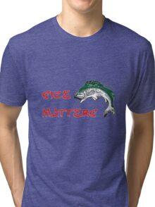 SIZE MATTERS FISHING T Tri-blend T-Shirt