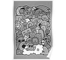 Doodleicious - Black and White Poster