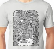Doodleicious - Black and White Unisex T-Shirt