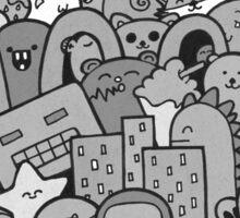 Doodleicious - Black and White Sticker