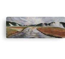 Yellowstone River, Yellowstone NP. Canvas Print