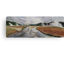 Yellowstone River, Yellowstone NP. Canvas Print