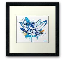 poseidon surfer 4  Framed Print