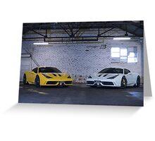 Ferrari 458 Speciale duo Greeting Card