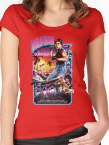 Miami Connection Poster Shirt Women's Fitted Scoop T-Shirt