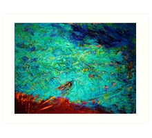 Indian Ocean - abstract Art Print