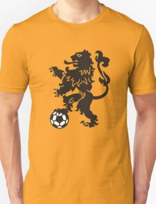 Dutch Lion Weapon with soccer ball Unisex T-Shirt
