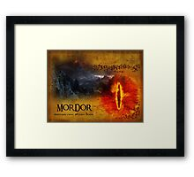 Greetings from Mount Doom Framed Print