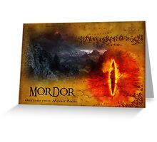Greetings from Mount Doom Greeting Card