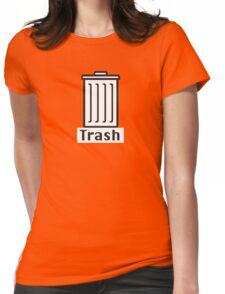 Retro Classic Mac Trash  Womens Fitted T-Shirt