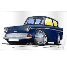 Ford Anglia 105e Dark Blue Poster