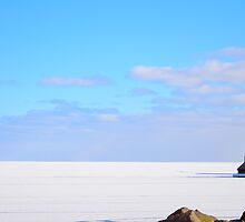 Frozen Lake Superior by markwestpfahl