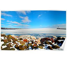 Frozen Lake Superior Poster