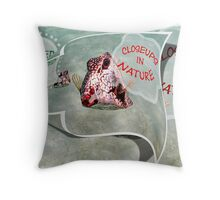closeups in nature Throw Pillow