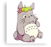 Chibi Totoro Metal Print