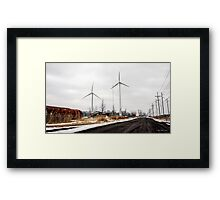 Standing Tall For Clean Energy Framed Print