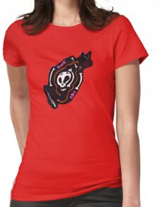 Skull Design Tee Shirt Womens Fitted T-Shirt