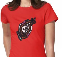 Skull Design Tee Shirt Womens Fitted T-Shirt