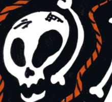 Skull Design Tee Shirt Sticker