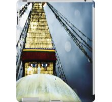 Buddha Stupa Blue iPad Case/Skin