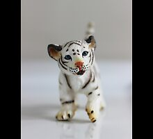 Schleich Vintage White Tiger Cub Toy Figurine by © Sophie W. Smith