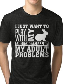 bunny rabbit Tri-blend T-Shirt