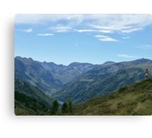 Dramatic Mountain Landscape Canvas Print