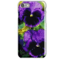 Pansy Mosaic iPhone Case iPhone Case/Skin