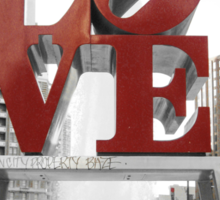 Red Love Park Sign Philadelphia Street Photography Sticker