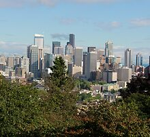 Seattle through the Trees by Brittany Brassell