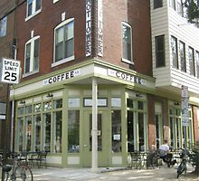 City Cafe Coffee Shop in Philadelphia Street Photography by RedCoatStudio