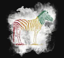 Red Green and Yellow Rasta Zebra T-Shirt