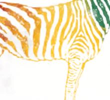 Red Green and Yellow Rasta Zebra Sticker