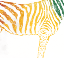 Red Green and Yellow Rasta Zebra Sticker