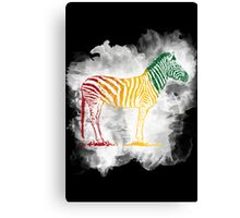 Red Green and Yellow Rasta Zebra Canvas Print
