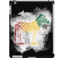 Red Green and Yellow Rasta Zebra iPad Case/Skin