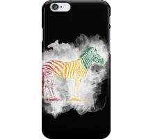 Red Green and Yellow Rasta Zebra iPhone Case/Skin