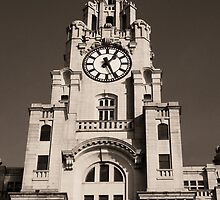 Liver Building in Sepia by DavidWHughes